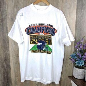 Vintage 1998 Super Bowl XXXII (32) T-Shirt XL